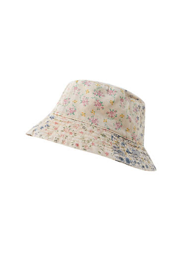 Floral patchwork bucket hat