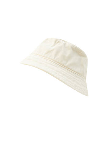 Faded-effect bucket hat