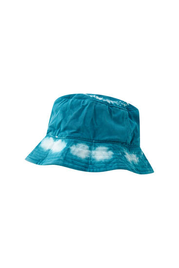 Two-tone tie-dye bucket hat