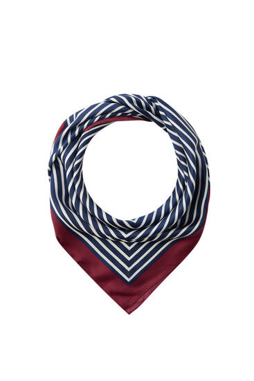 Striped print scarf