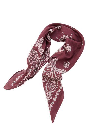 Paisley print scarf