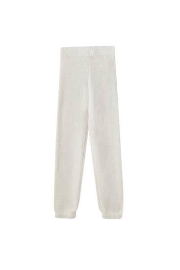 Textured pyjama trousers