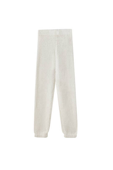 Textured pyjama trousers