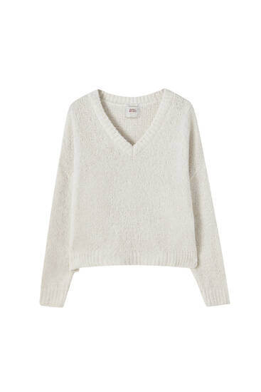 Textured pyjama sweater