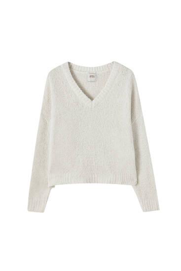 Tekstūrinis pižamos megztinis