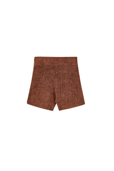 Brown pyjama shorts