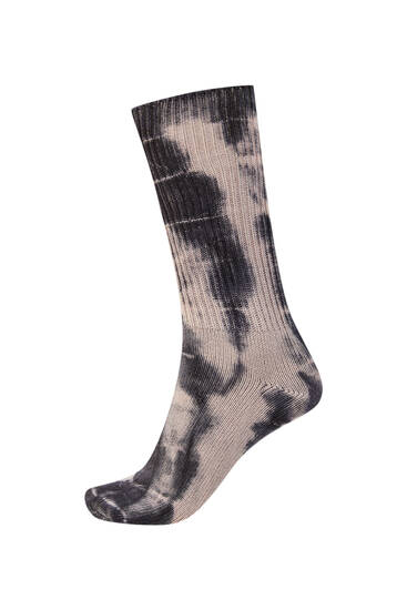 Long tie-dye socks