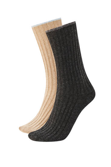 Pack of cashmere and wool socks