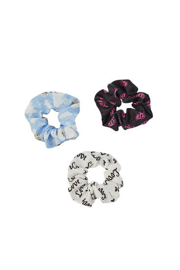 Pack of 3 dragon and angel scrunchies