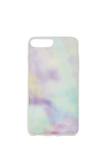 Multicoloured marble print smartphone case