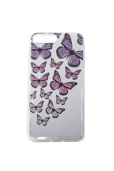 Butterfly mirror smartphone case