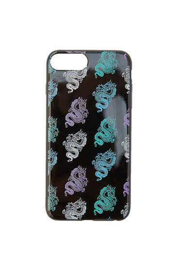 Dragon print smartphone case