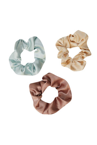 3-pack of satin scrunchies