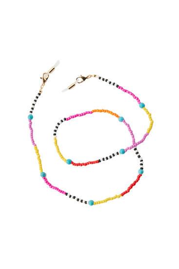Multicoloured charm bracelet
