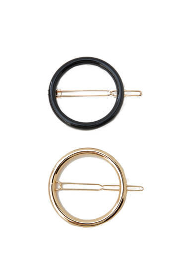 Pack of circular hairclips