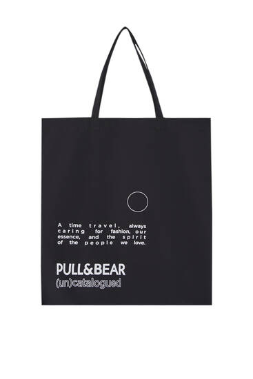 Slogan bag with Pull&Bear logo
