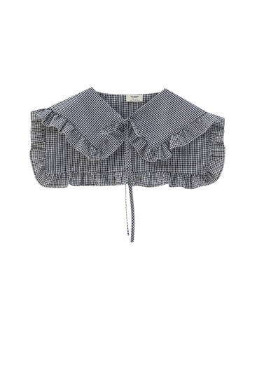 Gingham collared top