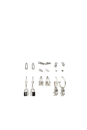 Pack pendientes multicharms