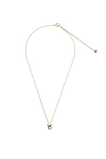 Metallic Taurus necklace