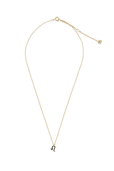 Metallic Leo necklace