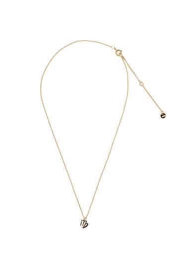 Metallic Virgo necklace