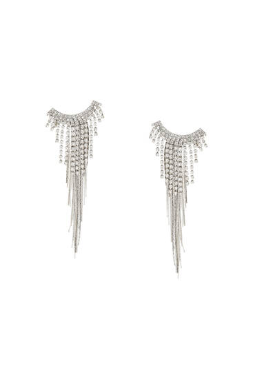 Shiny cascading earrings