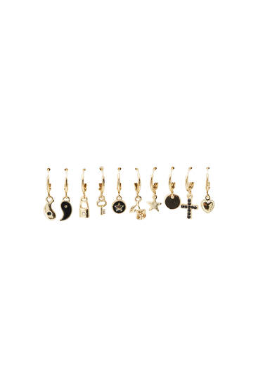 10-pack of charm earrings