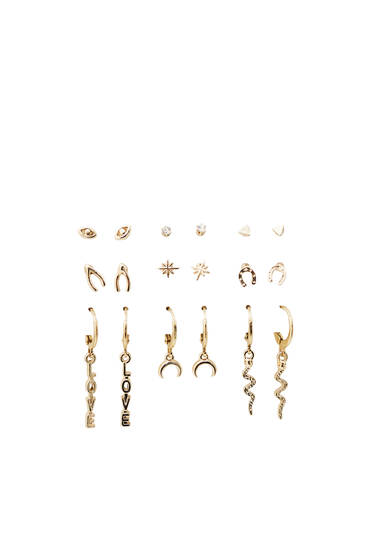 Pack of snake earrings