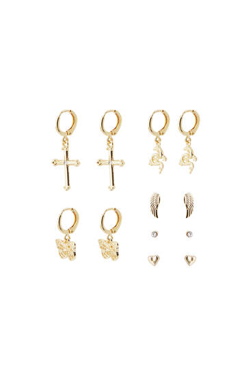 Lot boucles d'oreilles papillons dragon