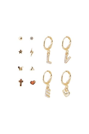 12-pack of dangle earrings