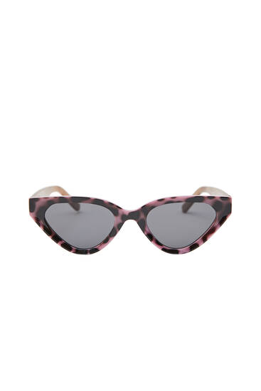 Contrast cateye sunglasses