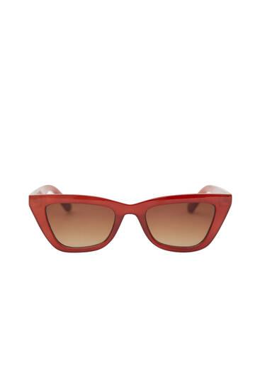 Russet cateye sunglasses