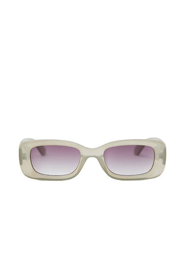 Rectangular sunglasses