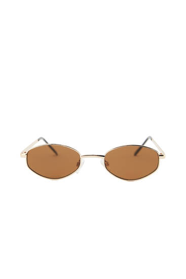 Gafas sol montura geométrica