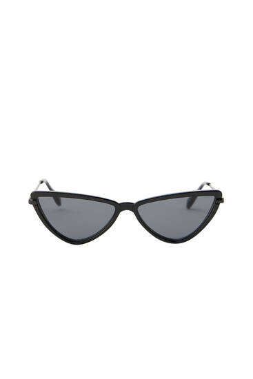 Geometric cateye sunglasses