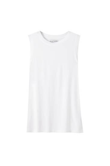 Basic sleeveless T-shirt - 100% ecologically grown cotton