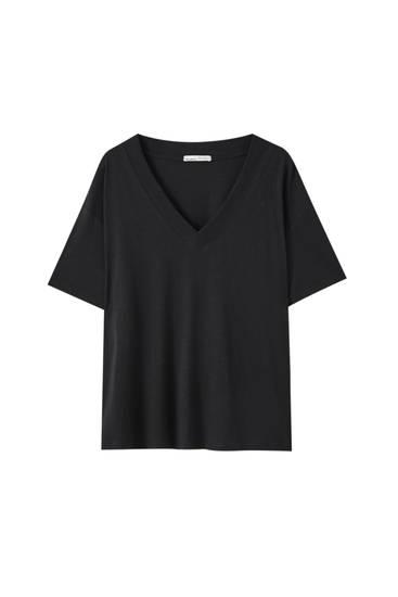 T-shirt oversize flammé - Au moins 50% de coton biologique