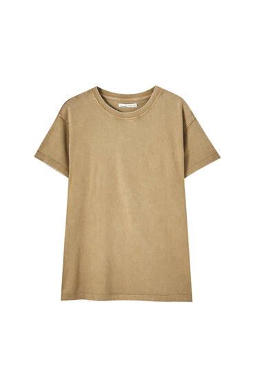 Camiseta básica oversize efecto lavado