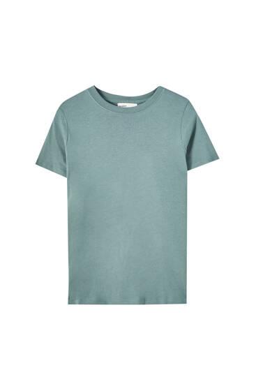 Bazična majica s okruglim ovratnikom – 100% organski pamuk