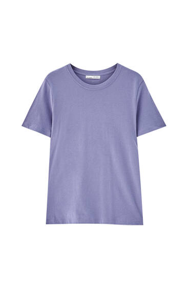 Basic round neck T-shirt - 100% ecologically grown cotton
