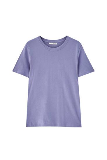 Basic T-shirt met ronde hals - 100% biologisch katoen
