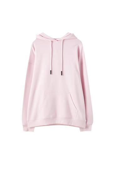 Basic oversized sweater met buidelzak