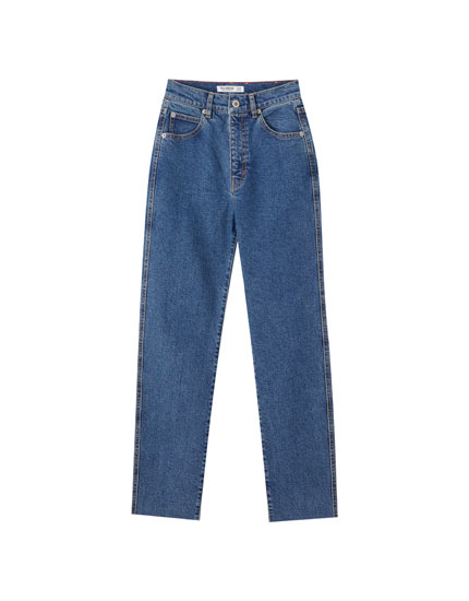 Bequeme Mom-Jeans im Slim-Fit