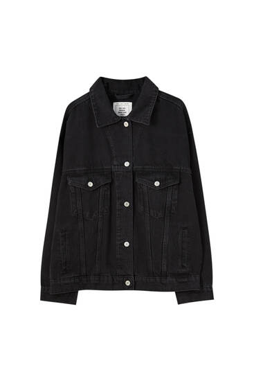 Black denim boyfriend jacket
