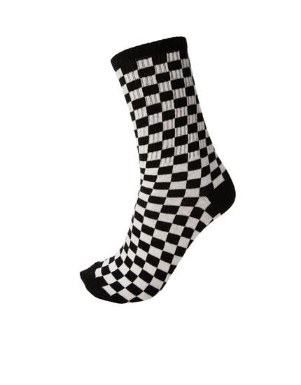 Chequered socks