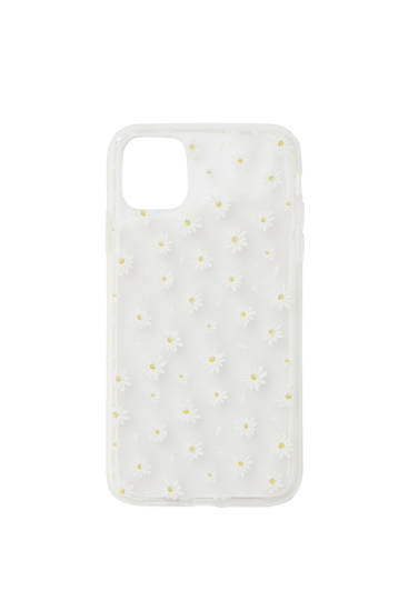 Transparent daisy smartphone case