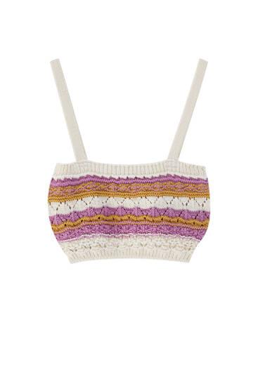 Striped crochet top
