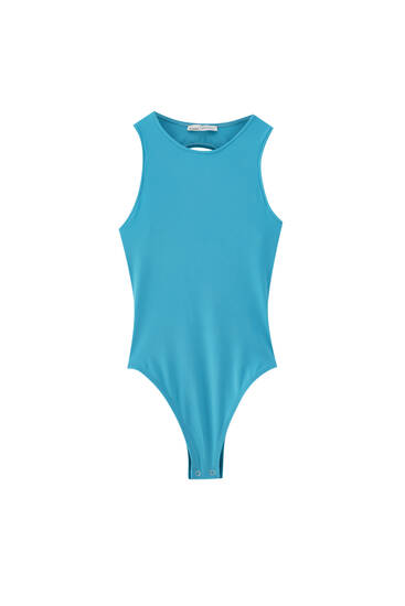 Bodysuit with cut-out detail and racerback design