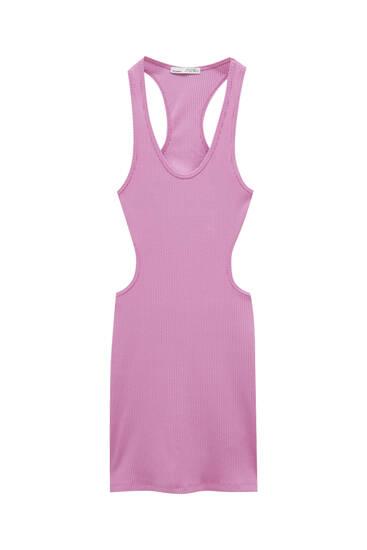 Mini haljina uz tijelo s prorezima