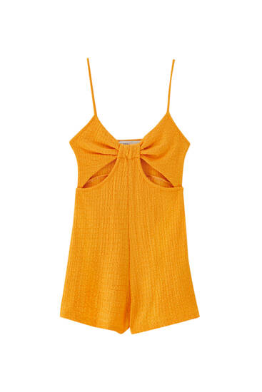 Strappy playsuit with cut-out detail